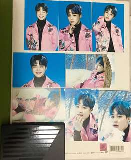 BTS Wings tour card Ver.2 Jimin(齊8張)