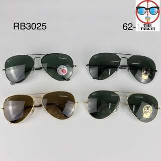 ray ban aviator flash lenses rb3025 58mm / 62mm size brand new full packages original polarized $900
