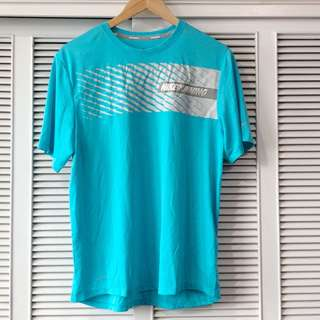 Nike Running Men's Shirt Aqua and Grey