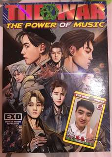 EXO The War The Power of Music Album專輯+D.O小卡
