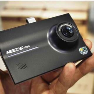 "NEEDS X500 1280x720p LCD 3.5"" w/ 30fps Video Recording (Front & Rear Dashcam) + FREE 16GB SD Card"