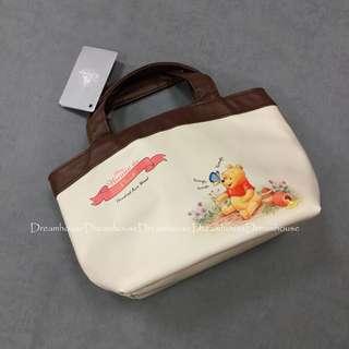 東京迪士尼 維尼 皮質 保溫袋 保冷袋 便當袋
