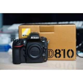 ALMOST BRAND NEW Nikon D810 Full Frame Body Only