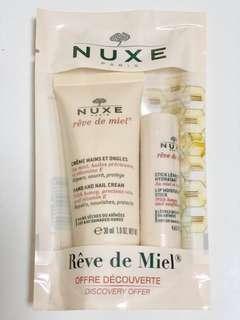 Nuxe Hand & Nail Cream + Moisturising Lip Balm Stick Travel Pack