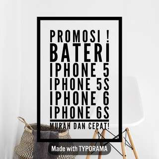 bateri iphone 5/5s