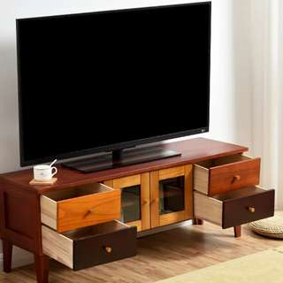 Home81 實木電視櫃 免安裝 包送貨