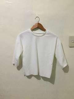 White 3/4 sleeves