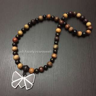 (Sold) Ramadhan Special#15: 33 Kinds of Wood / Kayu Necklace (From Personal Prayer Beads + Cintamani Wood + Kayu Malam Butterly (Worth $258)