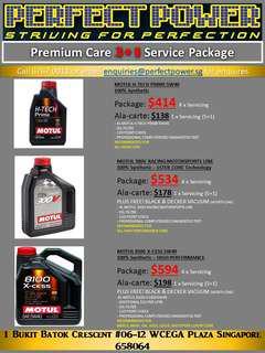Motul oil 3+1 servicing promotion