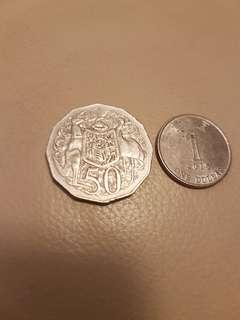 澳洲1971年50硬幣
