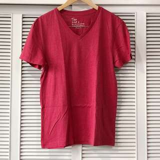 Giordano Red Vneck Shirt