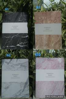 A4 Marble notebooks