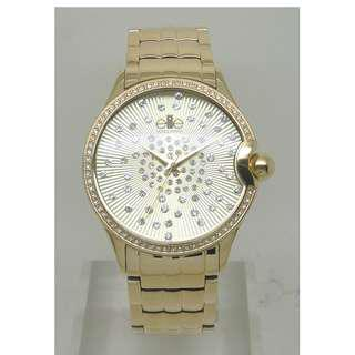 [清貨大減價] Elite Ladies Gold Tone Bracelet Watch (E54304G-102)