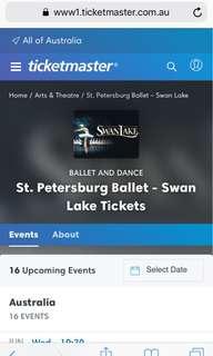 3x Swan Lake Ballet tickets