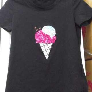🚚 冰淇淋珠珠棉T$100#畢業一百元出清