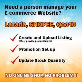 Manage your online shop, Lazada Qoo10 Shopee