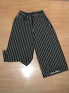 Black & White Stripes Culottes
