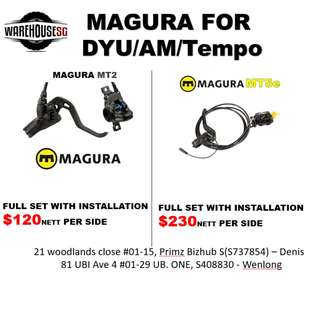 Magura Brakes for Dyu/Tempo/AM/Scooter/Escooter/Escoot/Brakes/