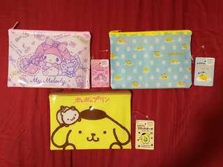 Sanrio Gudetama My Melody Pompompurin Zipper Bags/ Cases/ Pencil Case
