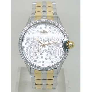 [清貨大減價] Elite Ladies SS+Gold Tone Bracelet Watch (E54304G-304)