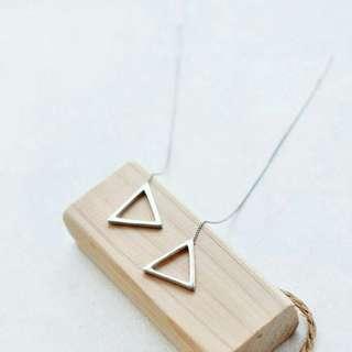 Triangle long earrings