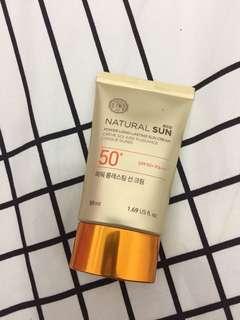The face shop sun cream 50++