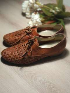 Brogue shoes Office UK ( brown leather )