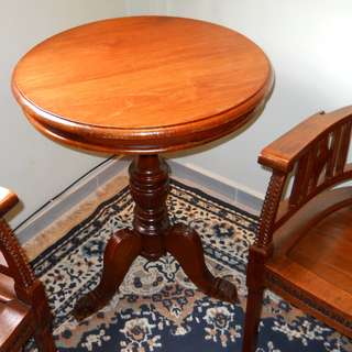 Vintage Round Table & Arm Chairs