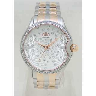 [清貨大減價] Elite Ladies SS+Rose Gold Tone Bracelet Watch (E54304G-312)