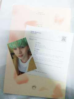 bts album suga photocard
