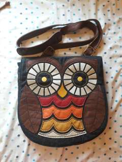 Owl Design Sling Bag