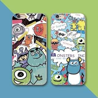 包郵2018怪獸大學卡通全包保護手機殼iPhone case