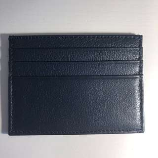 (New) Leather card holder (navy blue, brand off)