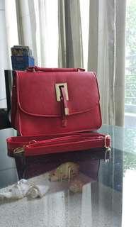 Slingbag or Handbag Red