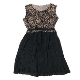 BNWT Leopard Print+Black Pleated Dress#EVERYTHING18