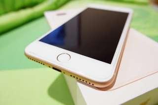 Iphone 8 Plus 64GB Gold 90% Mulus
