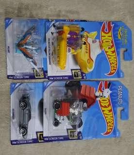 Hotwheels movie cars lot