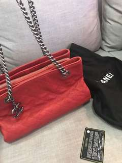 excellent condition Authentic Chanel red caviar tote - comes complete