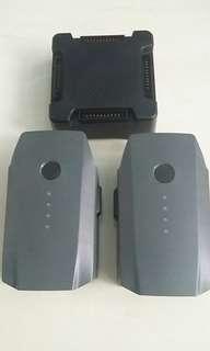Jual 2 unit Batere dan Charger Multi Battery untuk Dji Mavic Pro