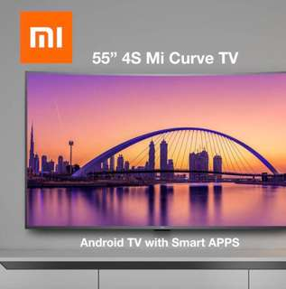 "Ready Stock New  55"" inches curve tv xiaomi tv 4K"