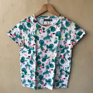 Bershka Flamingo Printed Shirt