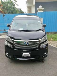 Toyota Vellfire Hybrid(Grab, Ryde & Private Hire Ready)