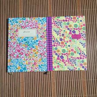 FLORAL NOTEBOOK 2 BOOK SET