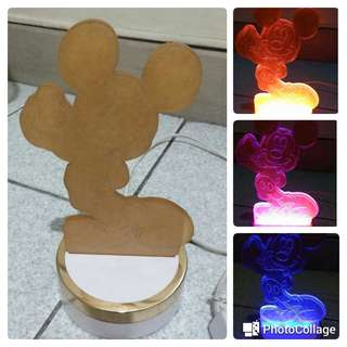 Mickey Mouse LED Lamp shade pre-loved