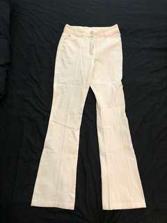 White Bootcut Pants