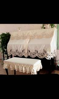 Piano & Bench Cover Set (lace) for Upright Piano