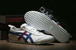 Authentic Onitsuka Tiger Mexico 66 (White/ Blue/ Red/ Gold)