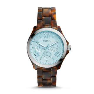 🚚 [Must Go] Fossil AM4641 Women's Cecile Multifunction Tortoise Acetate Watch