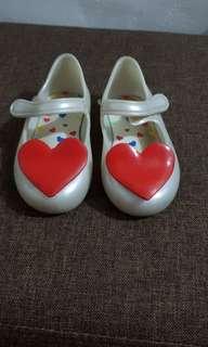 Mini Melissa Heart white Size 7