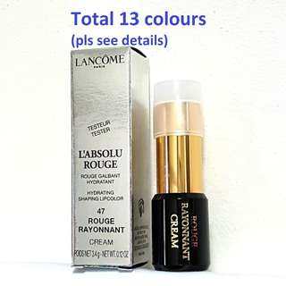 LANCOME L'Absolu Rouge Lipstick 3.4g - Choice of 13 Colours (Authentic Brand New Tester Pack)